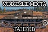 Уязвимые места танков - шкурки пробития с настройкой в ангаре для WOT 1.2.0.1 World of Tanks