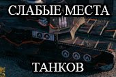 Слабые места танков - шкурки для WOT 1.6.1.3 World of tanks