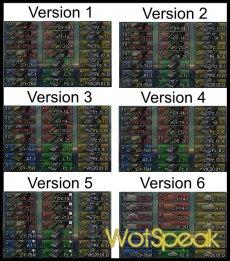 3D иконки танков (4 вида) от DJON_999 для WOT 1.11.1.3 World of tanks