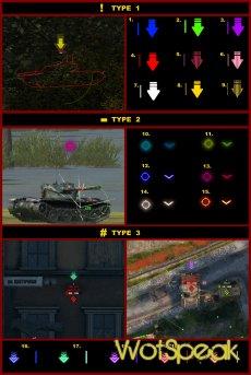 "Маркер фокуса цели ""Атакую"" для World of tanks 1.13.0.0 WOT (20 вариантов)"