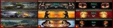 Набор разных окон результатов боя для World of tanks 1.11.1.3 WOT