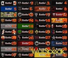 """Коллекция картинок для замены кнопки """"В бой"""" для World of tanks 1.13.0.0 WOT"""